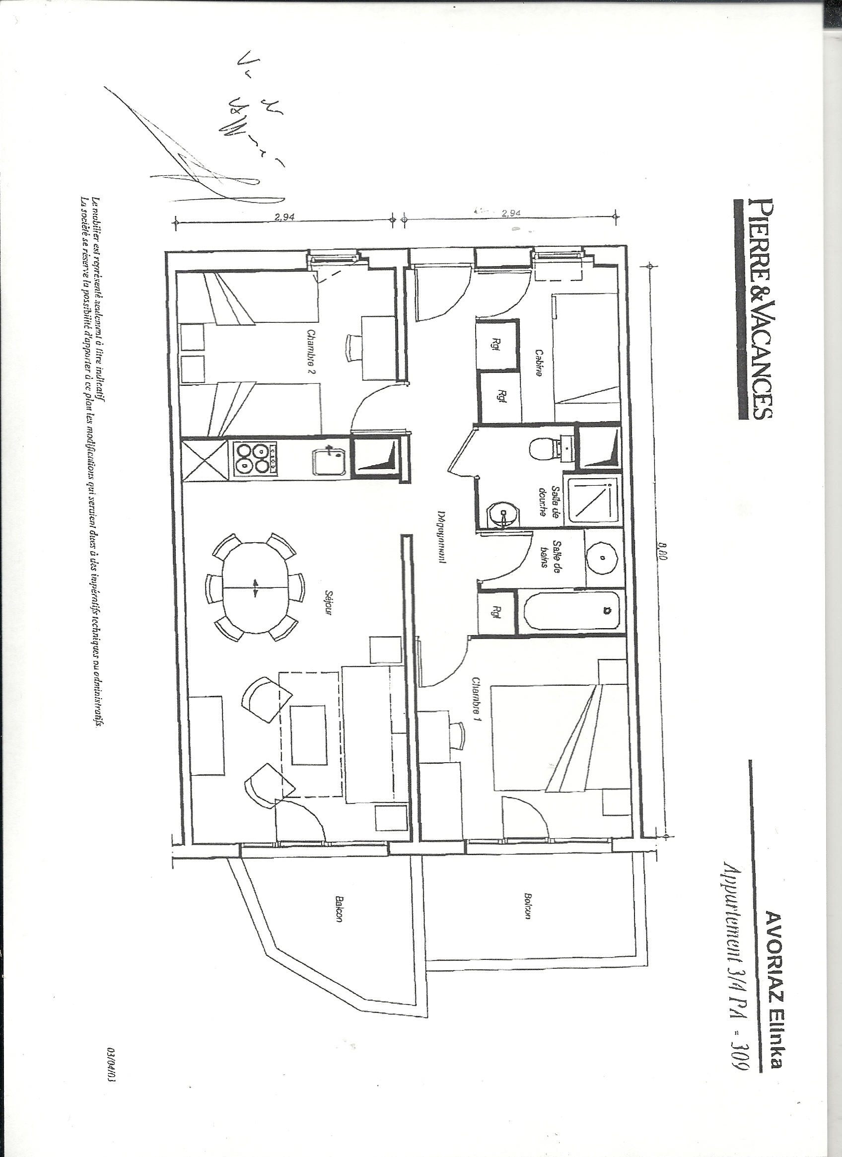 plan appartement avoriaz